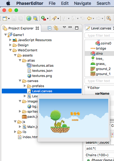 First Steps — Phaser Editor Help